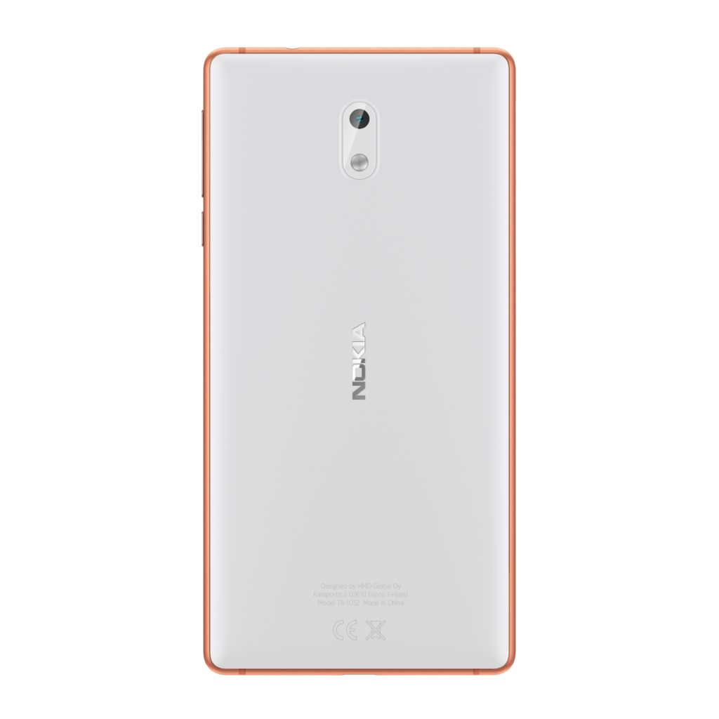 Nokia 3 Copper White back