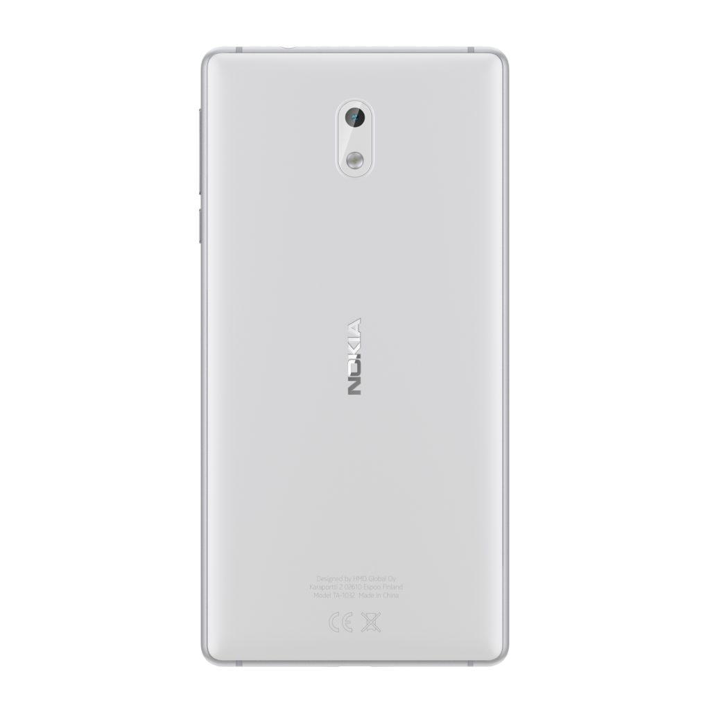 Nokia 3 Silver White back