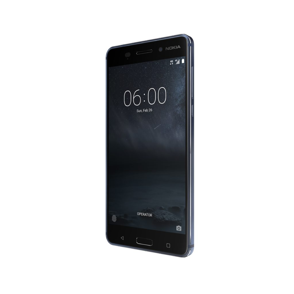 Nokia 6 Tempered Blue front